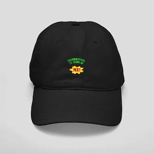 Funny Attitude 75th Birthday Black Cap
