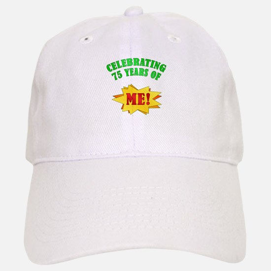 Funny Attitude 75th Birthday Baseball Baseball Cap