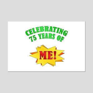 Funny Attitude 75th Birthday Mini Poster Print