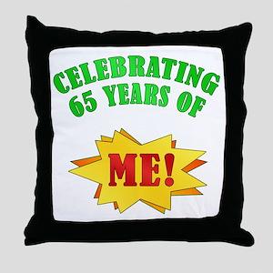 Funny Attitude 65th Birthday Throw Pillow