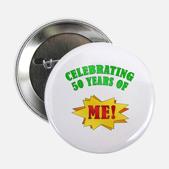 "Funny Attitude 50th Birthday 2.25"" Button"