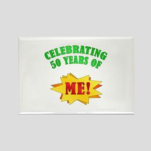 Funny Attitude 50th Birthday Rectangle Magnet