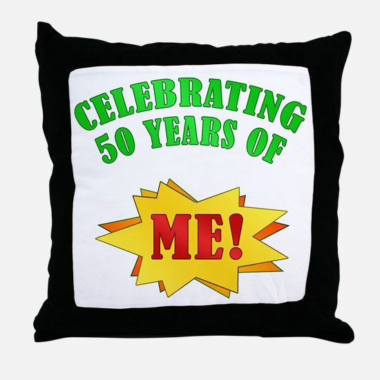 Funny Attitude 50th Birthday Throw Pillow