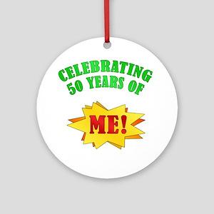 Funny Attitude 50th Birthday Ornament (Round)