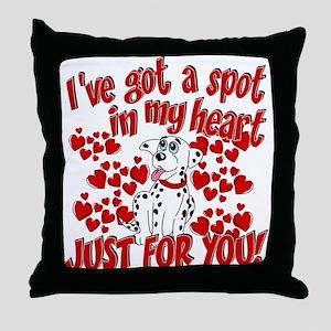 Dalmatian Valentine Throw Pillow
