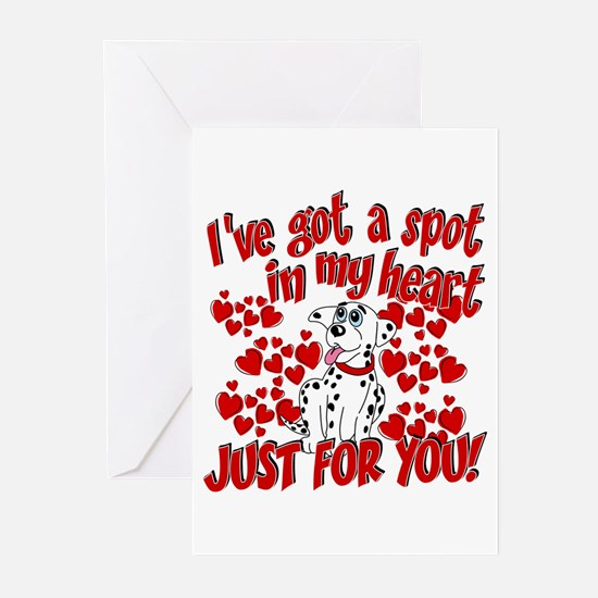 Dalmatian Valentine Greeting Cards (Pk of 20)