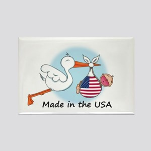 Stork Baby USA Rectangle Magnet