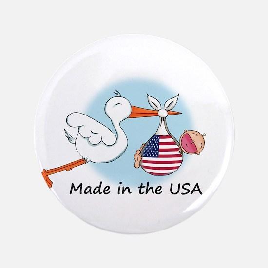 "Stork Baby USA 3.5"" Button"