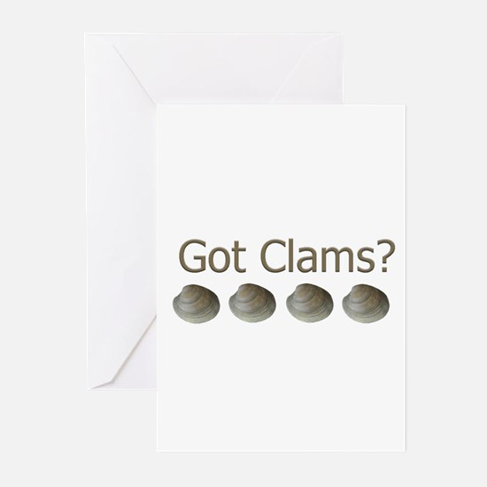 Got Clams? Greeting Cards (Pk of 20)