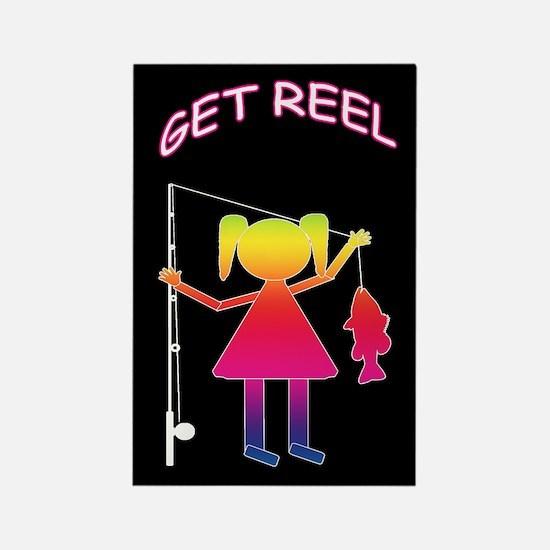 GET REEL GIRL Rectangle Magnet