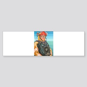 Navy Firefighter Bumper Sticker