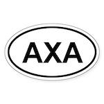 Anguilla AXA Oval Sticker