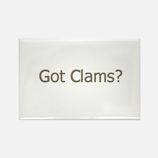 Got Clams? (text) Rectangle Magnet