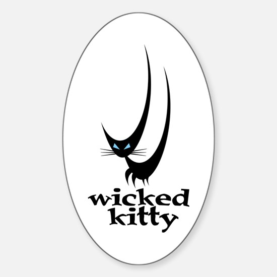 Wicked Kitty Oval Decal