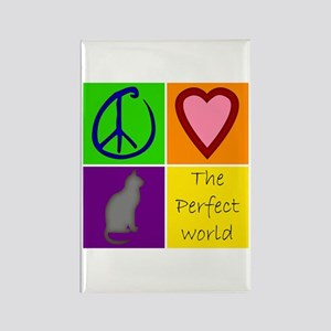 Perfect World: Cats - Rectangle Magnet