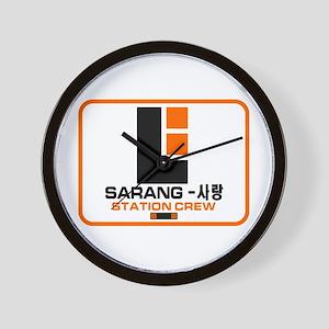 Sarang Station Crew Wall Clock