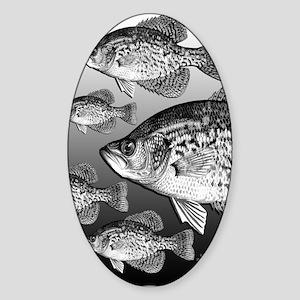 LOTSA CRAPPIE Oval Sticker