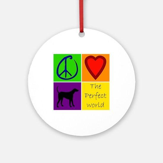 Perfect World: Black Lab - Ornament (Round)