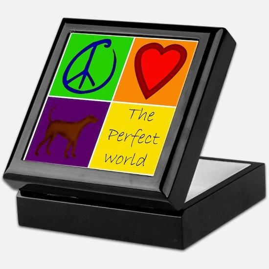 Perfect World: Chocolate Lab - Keepsake Box
