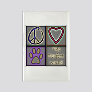 Perfect World: Dogs (ALT) - Rectangle Magnet