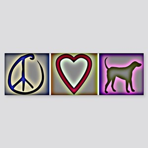 Peace Love Labrador Retrievers - Bumper Sticker