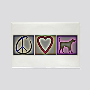 Peace Love Labrador Retrievers - Rectangle Magnet