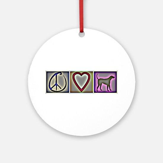 Peace Love Labrador Retrievers - Ornament (Round)