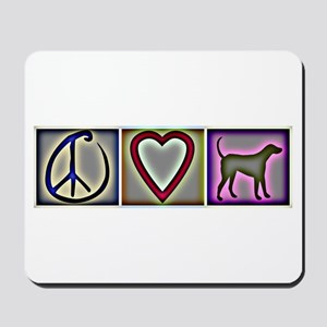 Peace Love Labrador Retrievers - Mousepad