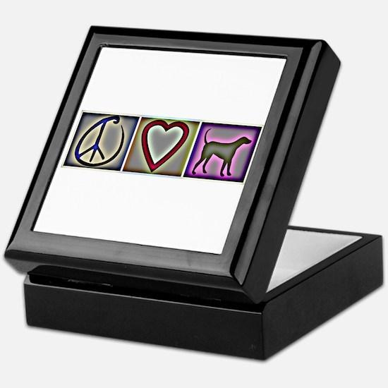 Peace Love Labrador Retrievers - Keepsake Box