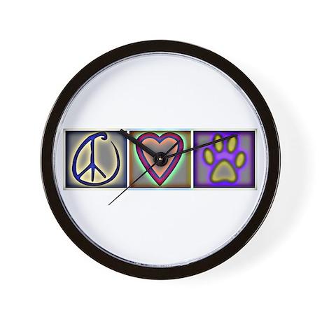 Peace Love Dogs (ALT) - Wall Clock