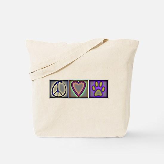 Peace Love Dogs (ALT) - Tote Bag