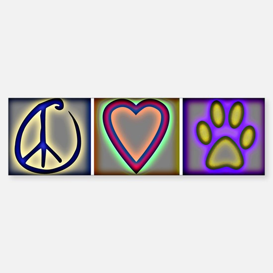 Peace Love Dogs (ALT) - Bumper Bumper Bumper Sticker