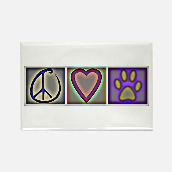 Peace Love Dogs (ALT) - Rectangle Magnet (100 pack