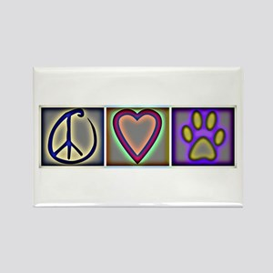 Peace Love Dogs (ALT) - Rectangle Magnet