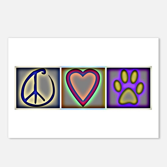 Peace Love Dogs (ALT) - Postcards (Package of 8)