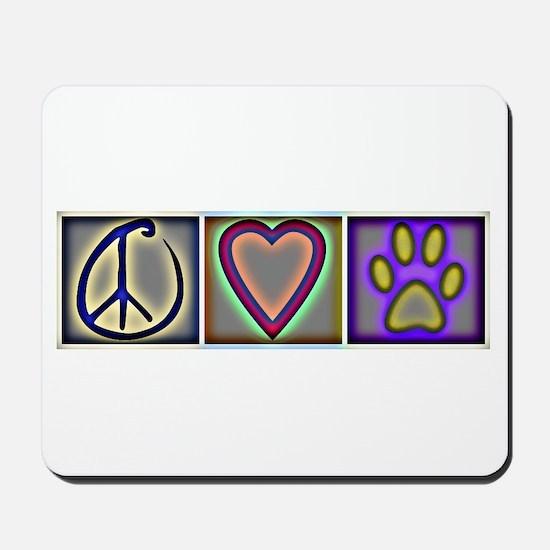 Peace Love Dogs (ALT) - Mousepad