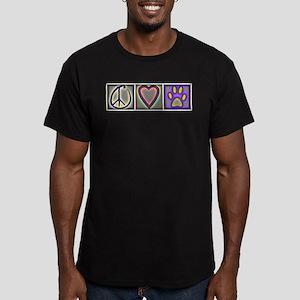 Peace Love Dogs (ALT) - Men's Fitted T-Shirt (dark