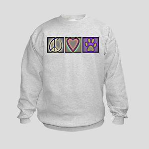 Peace Love Dogs (ALT) - Kids Sweatshirt