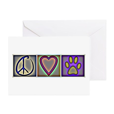 Peace Love Dogs (ALT) - Greeting Cards (Pk of 20)