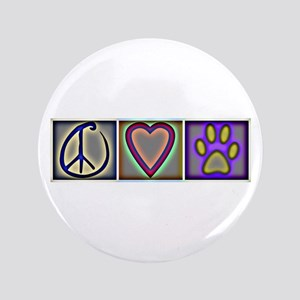 "Peace Love Dogs (ALT) - 3.5"" Button"