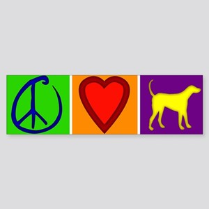 Peace Love Yellow Labs - Bumper Sticker