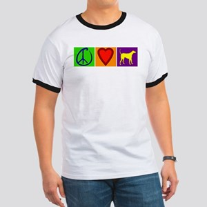 Peace Love Yellow Labs - Ringer T