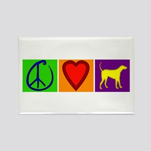 Peace Love Yellow Labs - Rectangle Magnet