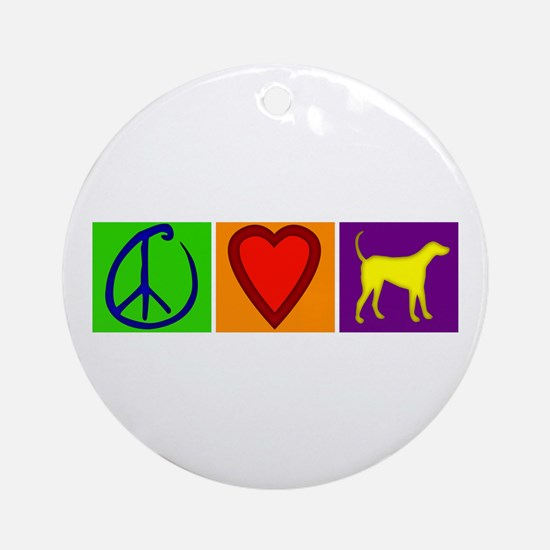 Peace Love Yellow Labs - Ornament (Round)