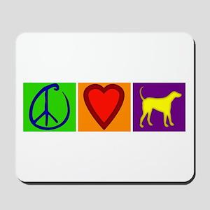 Peace Love Yellow Labs - Mousepad