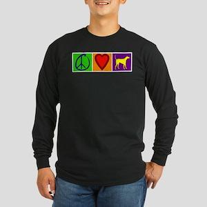 Peace Love Yellow Labs - Long Sleeve Dark T-Shirt