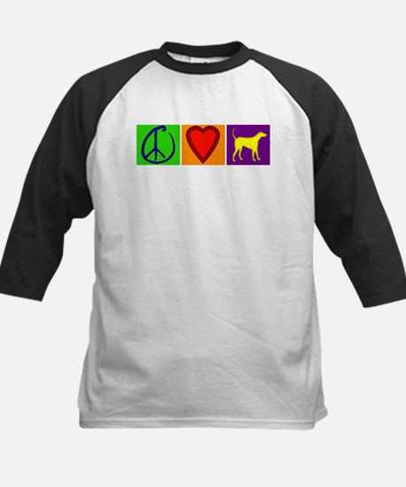 Peace Love Yellow Labs - Kids Baseball Jersey