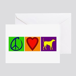 Peace Love Yellow Labs - Greeting Card