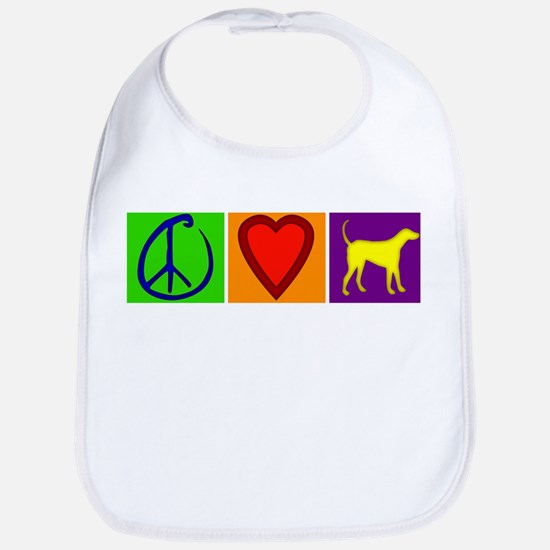 Peace Love Yellow Labs - Bib