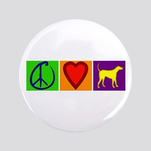 """Peace Love Yellow Labs - 3.5"""" Button"""